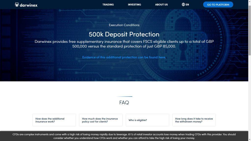 darwinex money protection webpage