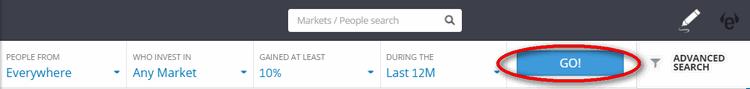 traders search go button