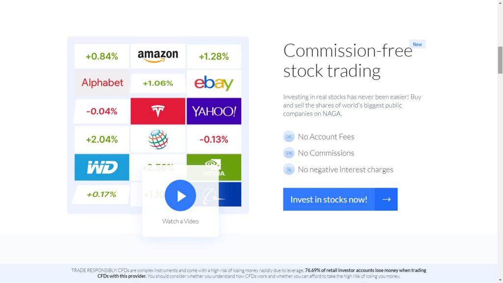 naga markets commission free stock trading webpage