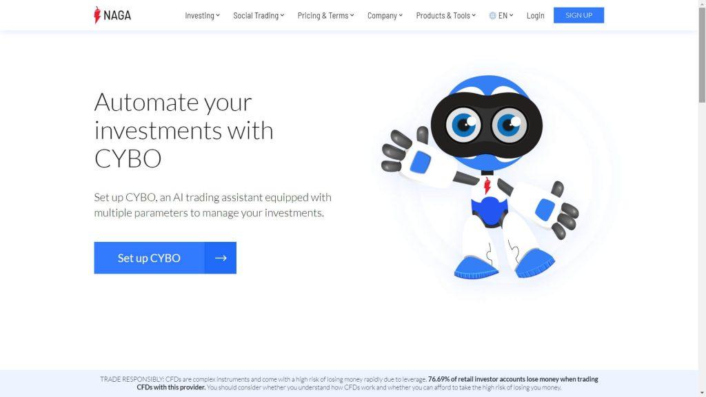 naga markets cybo webpage