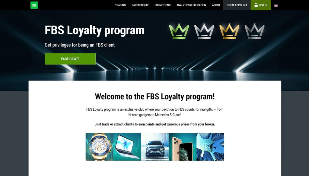 Join the FBS loyalty program