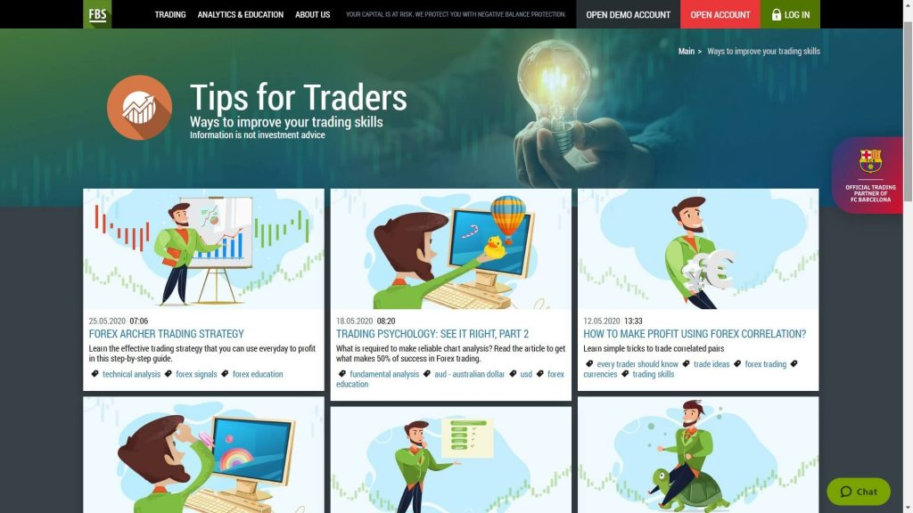 tips for traders on the fbs website