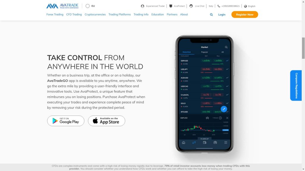 avatrade mobile app features