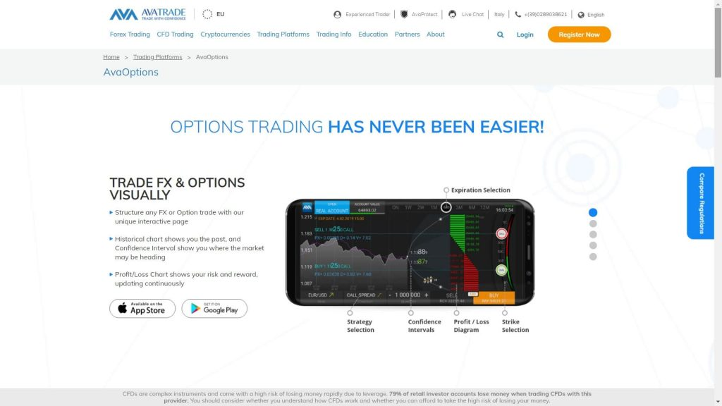 avatrade options trading with mobile app