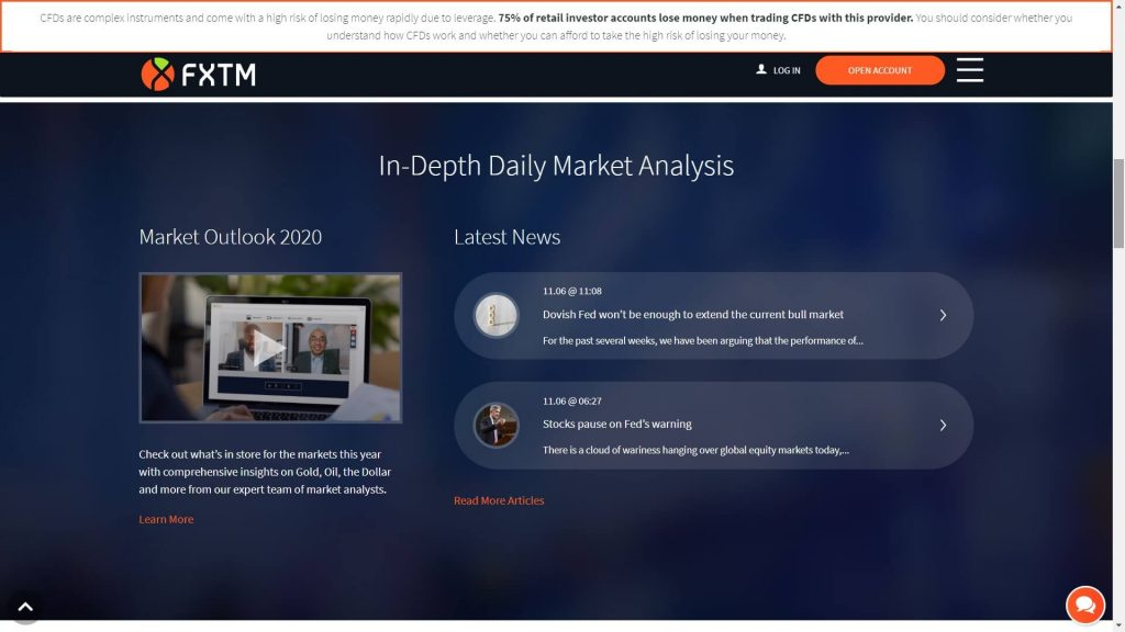 fxtm market insights webpage