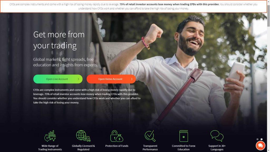 fxtm website homepage