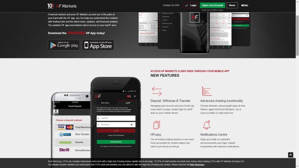 hf mobile platform features