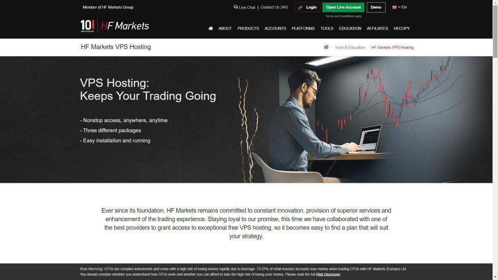 hotforex vps features on the hotforex website