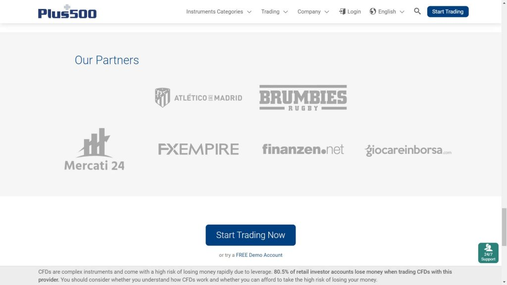 plus500 partners