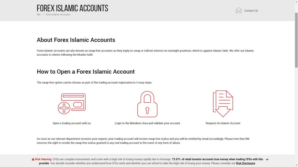 xm islamic account request image
