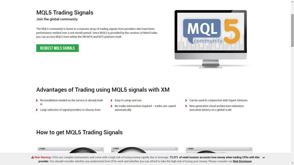 xm website mql5 section