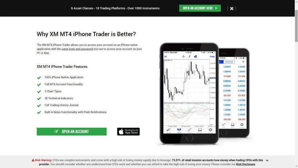 xm mt4 mobile platform features