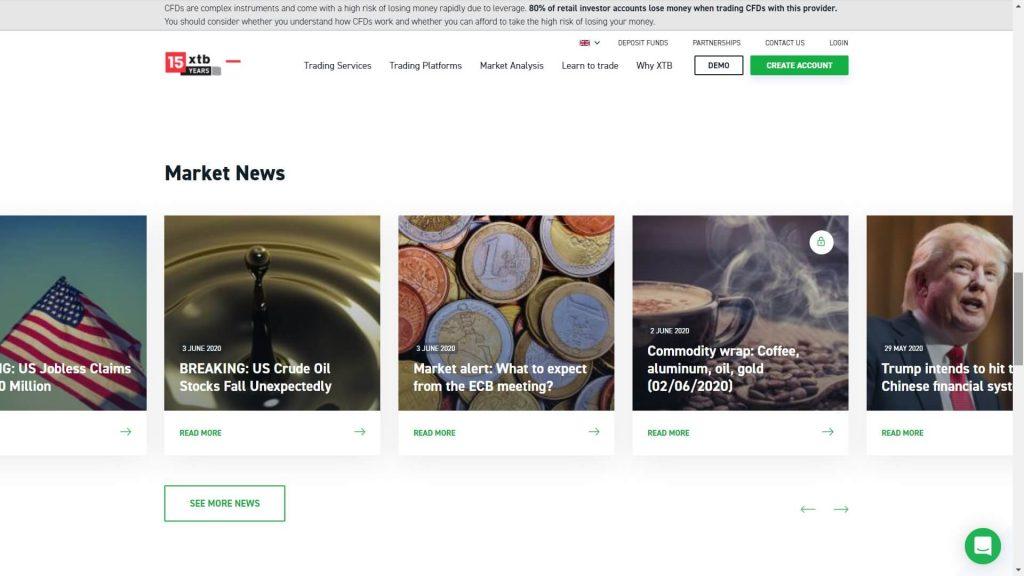 xtb market news on the xtb website