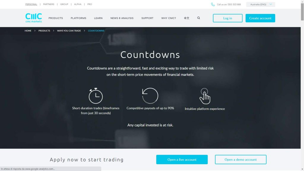 cmc markets stockbroking instrument webpage