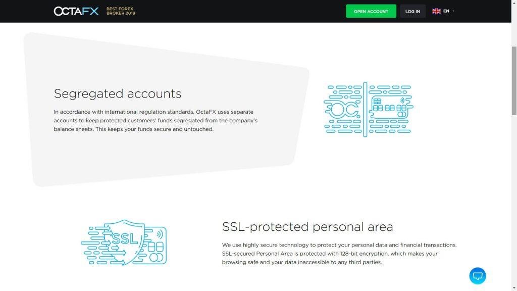 octafx funds safety webpage