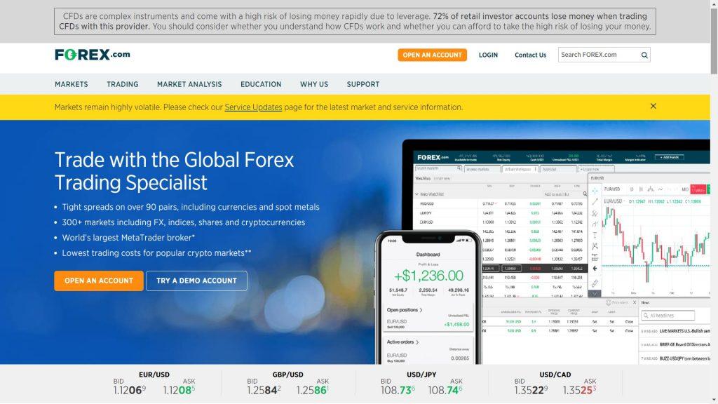 forex.com website homepage