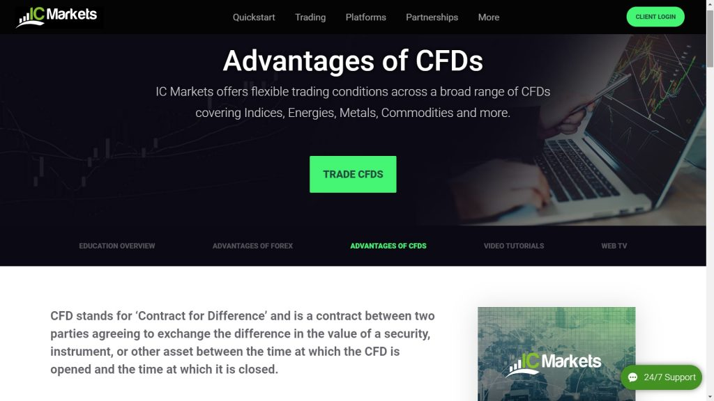 ic markets cfd advantages