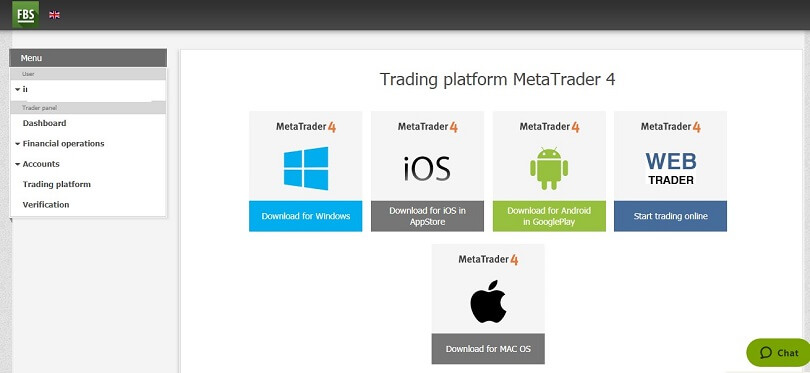 FBS demo account trading platform