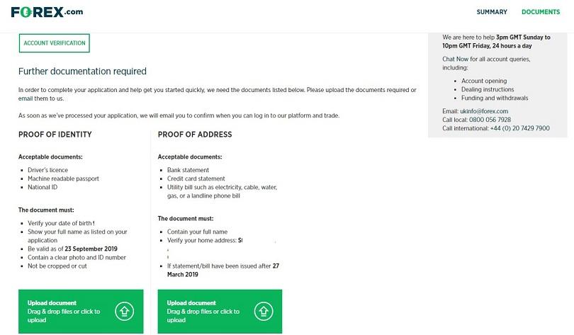 forex.com live account documents