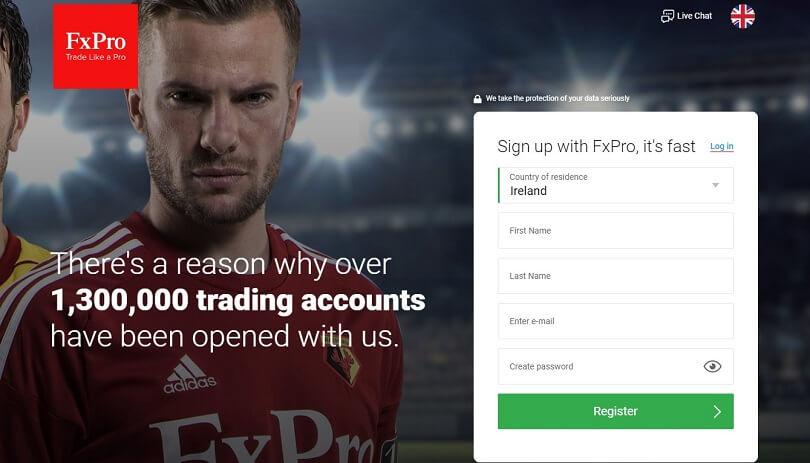 FxPro Sign-up Form