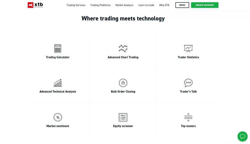 XTB Trading Platform Features