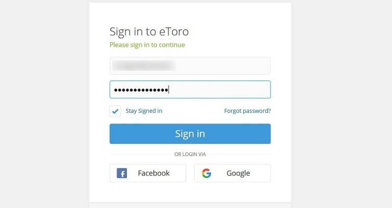 etoro demo account login