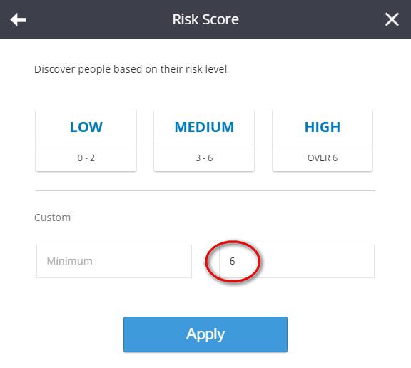 etoro risk score filter