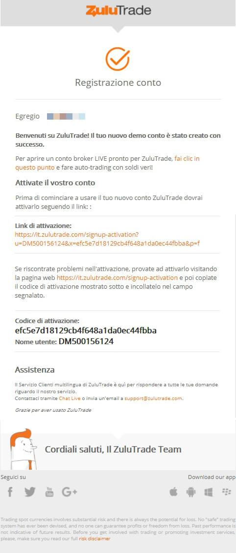 zulutrade demo account confirmation