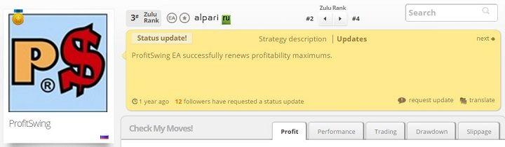 zulutrade trader personal profile