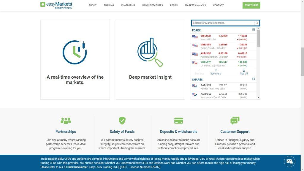 easymarkets broker features offered