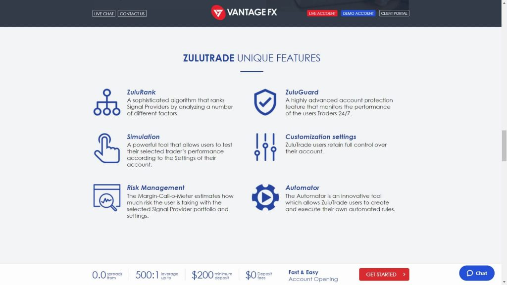 vantage fx zulutrade copy trading features