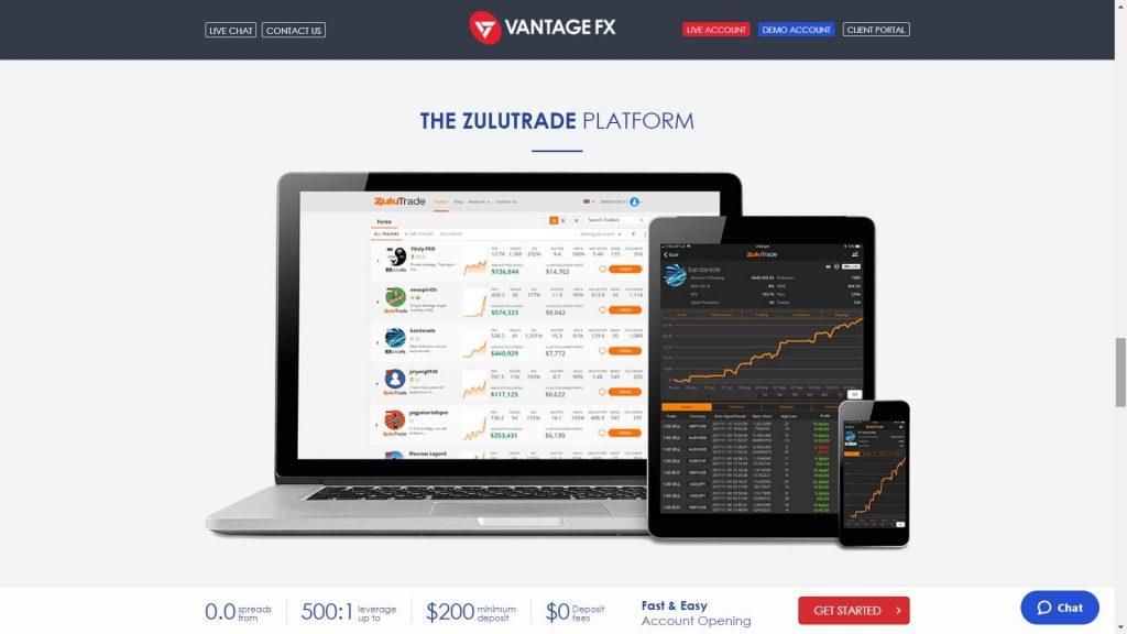 Vantage fx zulutrade platform image