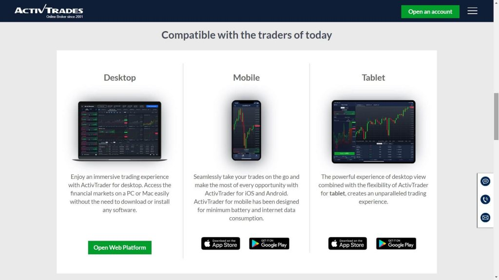 activtrades trading platforms device availability