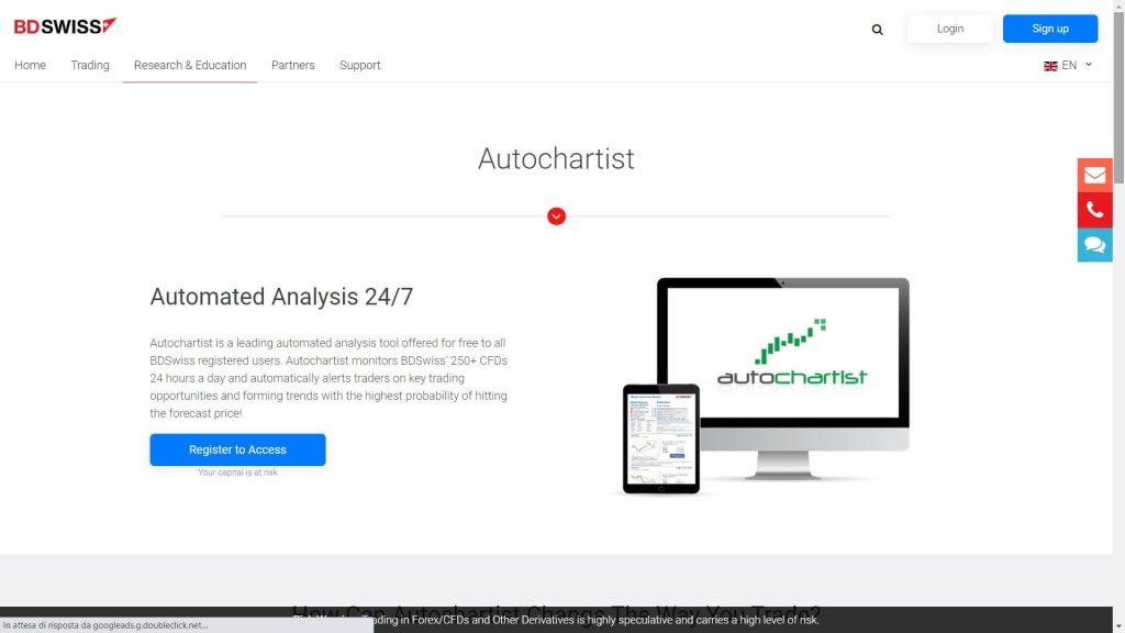 bdswiss autochartist webpage