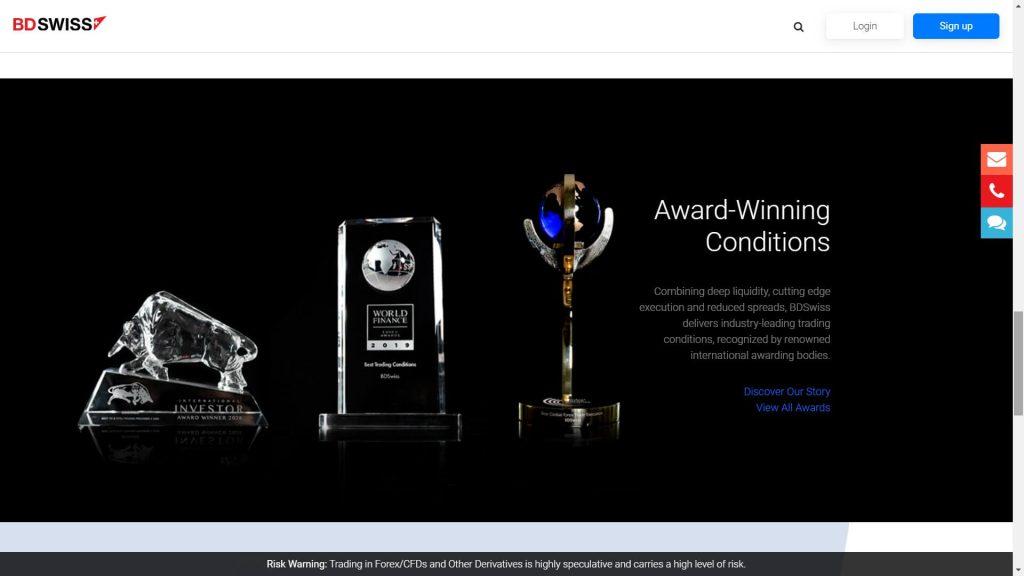 awards won by bdswiss