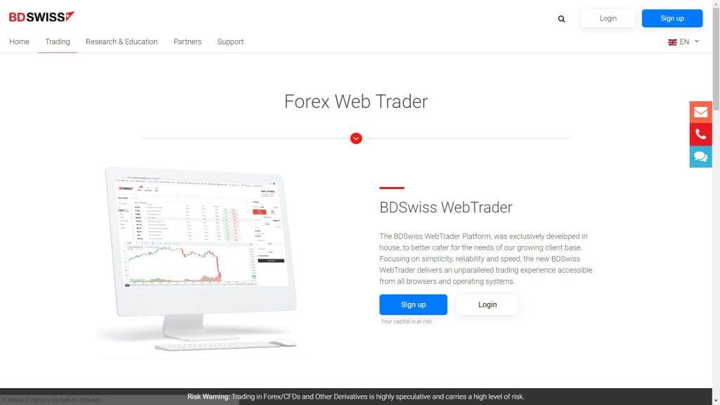 bdswiss webtrader webpage