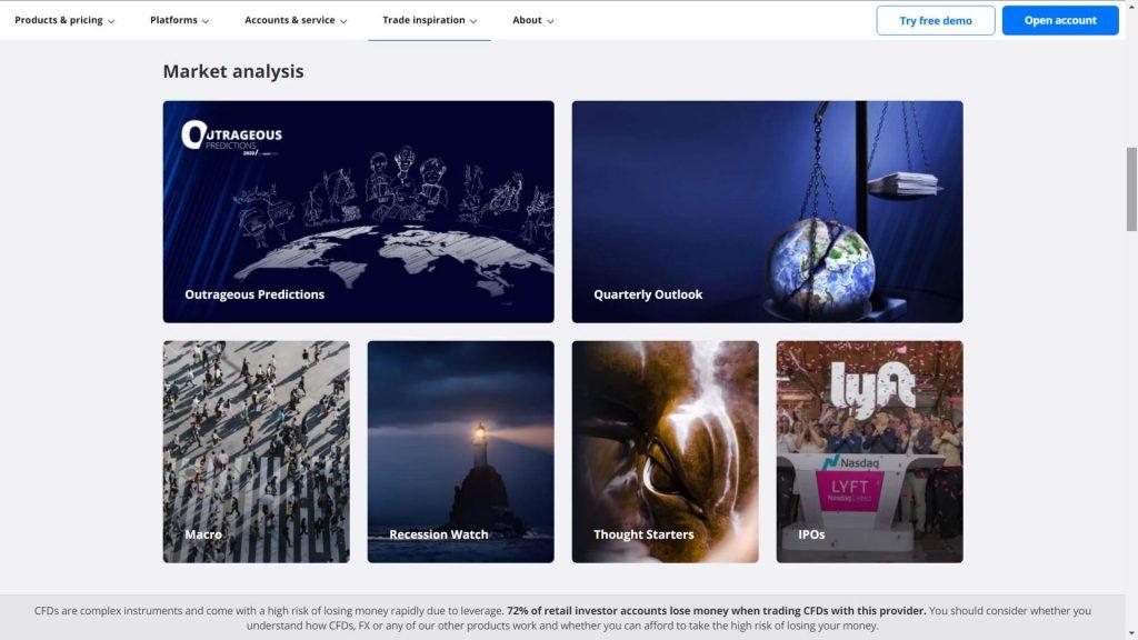 saxo bank market analysis webpage