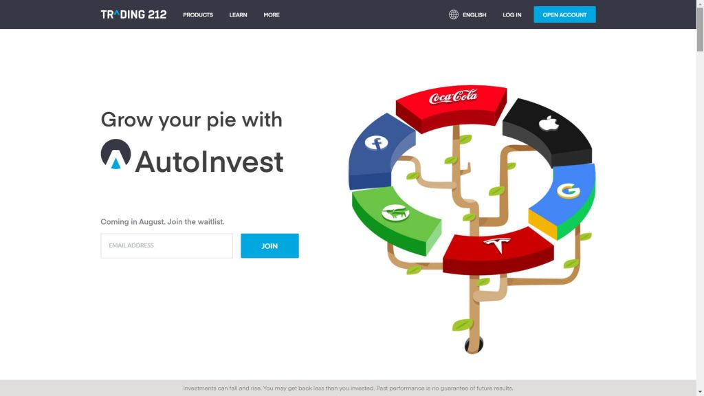 trading 212 autoinvest features